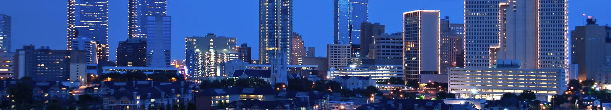 Fort Worth Nighttime Skyline